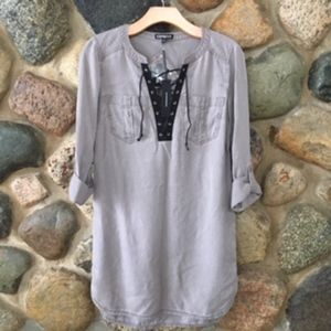 Express Lace-Up Popover Tunic